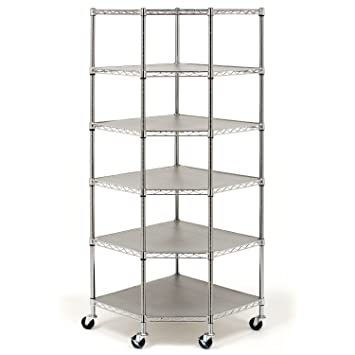 heavy duty steel 6tier corner shelf shelving unit shleves organizer