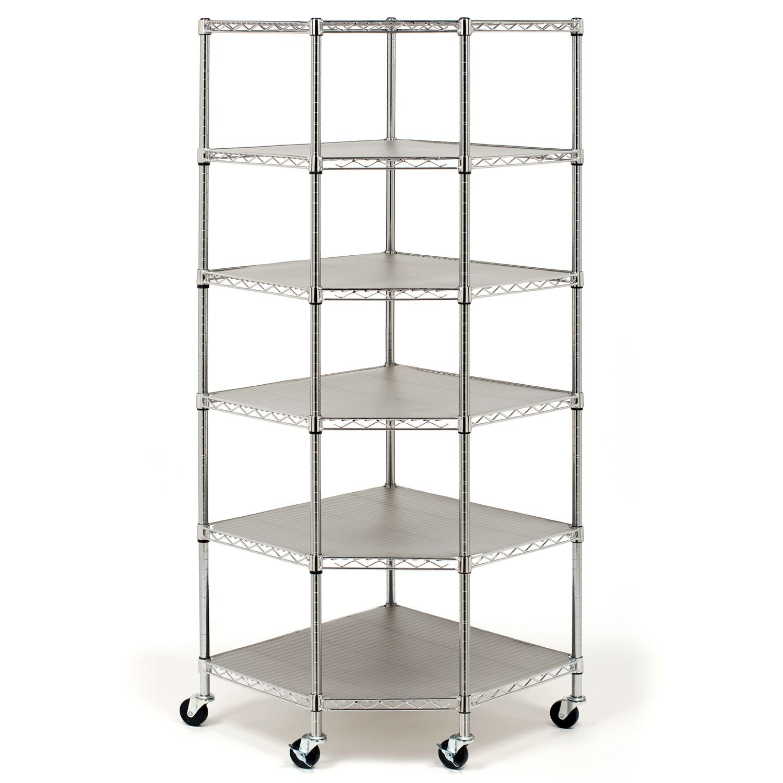 Heavy Duty Steel 6-Tier Corner Shelf , shelving unit, shleves, organizer, commercial, industrial by AmGood