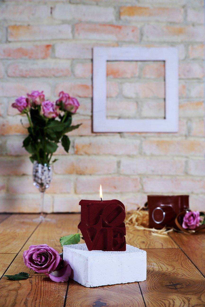 Love Sign Candle-Maroon Candellana Candles Candellana