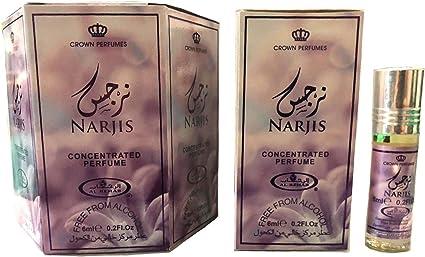 Business Square Pack de 6 almizcle perfume al Rehab Narjis 6 ml 100% aceite: Amazon.es: Belleza