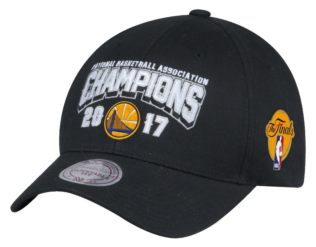 Golden State Warriors 2017 NBA Champions Mitchell & Ness調節可能な帽子 – ブラック   B0721QSQCY