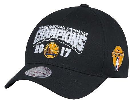 51cc36a7bcf Mitchell   Ness Golden State Warriors 2017 NBA Champs 110 FlexFit Snapback  Cap