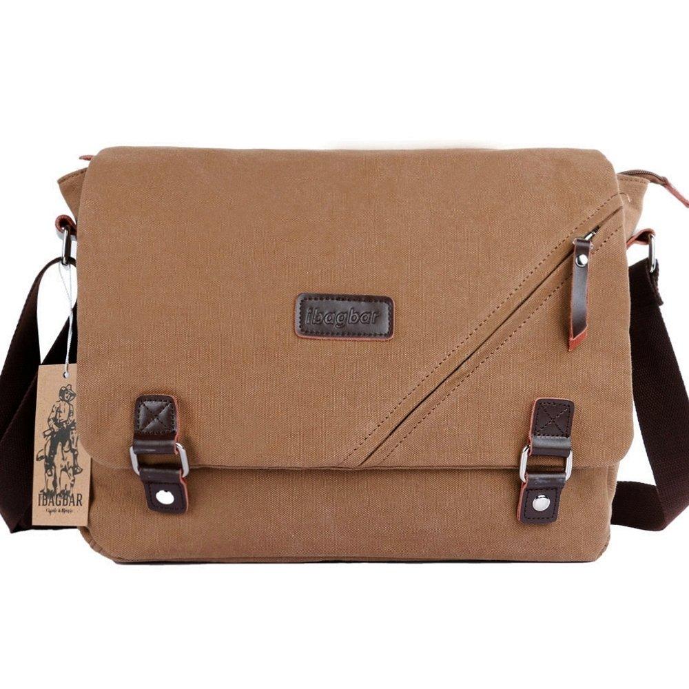 b38a4c9d36 lovely ibagbar Canvas Messenger Bag Shoulder Bag Laptop Bag Computer Bag  Satchel Bag Bookbag School Bag