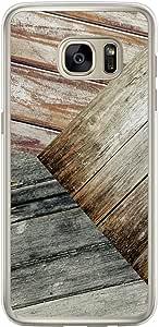 Loud Universe Samsung Galaxy S7 Edge Madala Wood n Wood 9 Printed Transparent Edge Case - Multi Color