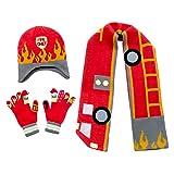 Kidorable Boys' Little Fireman Hat Scarf