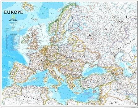 Europa mapa político Póster 30 x 24 en: Amazon.es: Oficina y papelería