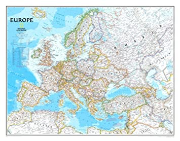 Europe political map poster 30 x 24in by national geographic maps europe political map poster 30 x 24in by national geographic maps gumiabroncs Choice Image