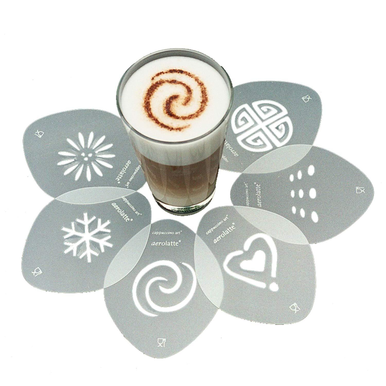 Aerolatte Cappuccino Stencil Set, For Latte Coffee Art, Set of 6