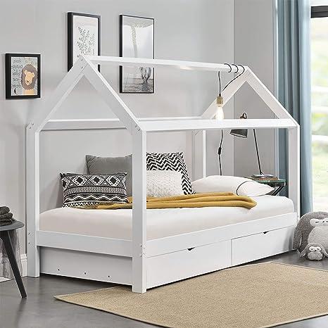 Artlife Kinderbett Nils Mit Dach 2 Bettkästen Und