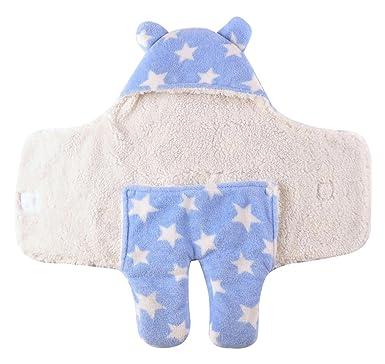 Happy Cherry Mantita Infantil Saco de Dormir Piernas Separadas Gruesa y suave para Bebé Recién Nacido Azul: Amazon.es: Ropa y accesorios