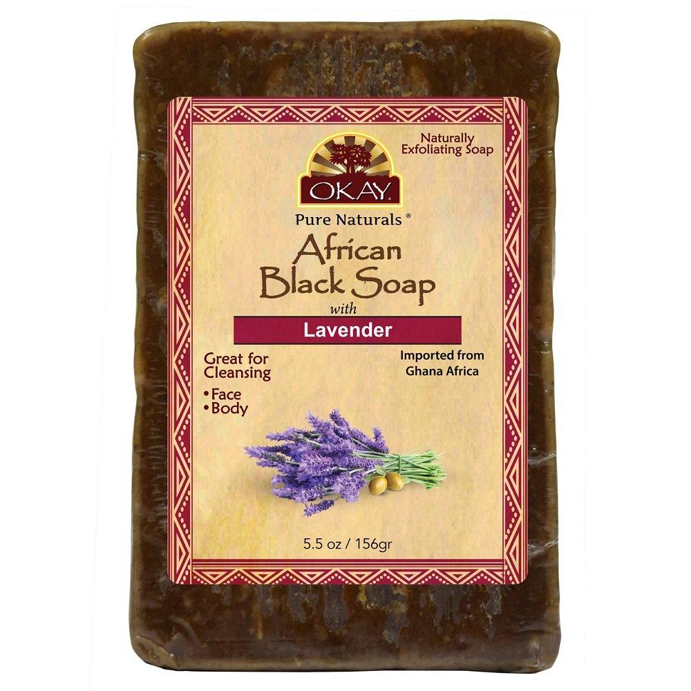 OKAY African black soap lavender 5.5oz/156gr Xtreme Beauty International