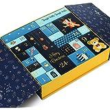 GWHOLE Christmas Goody Gift Box, Christmas Advent Calendar Box Gift Boxes for Gift Christmas Party Decoration Gift…
