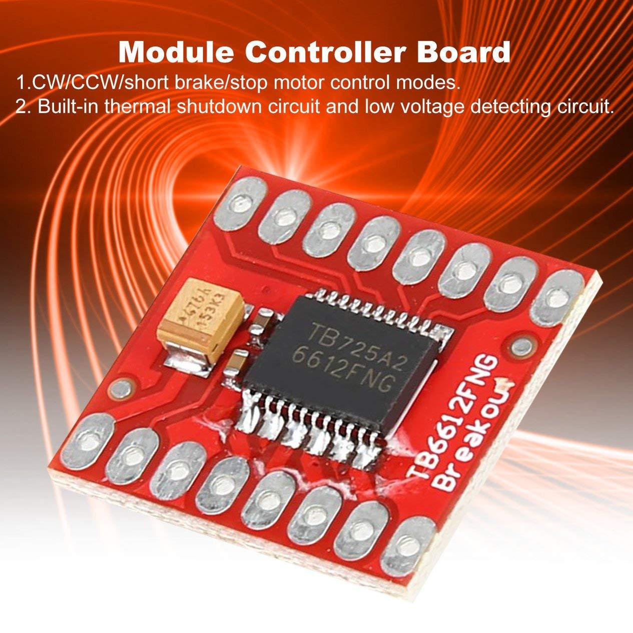 EdBerk74 TB6612FNG Module de Carte de Blindage de Protection dextension pour contr/ôleur de Moteur Pas /à Pas /à Courant continu pour microcontr/ôleur Arduino Mieux Que L298N