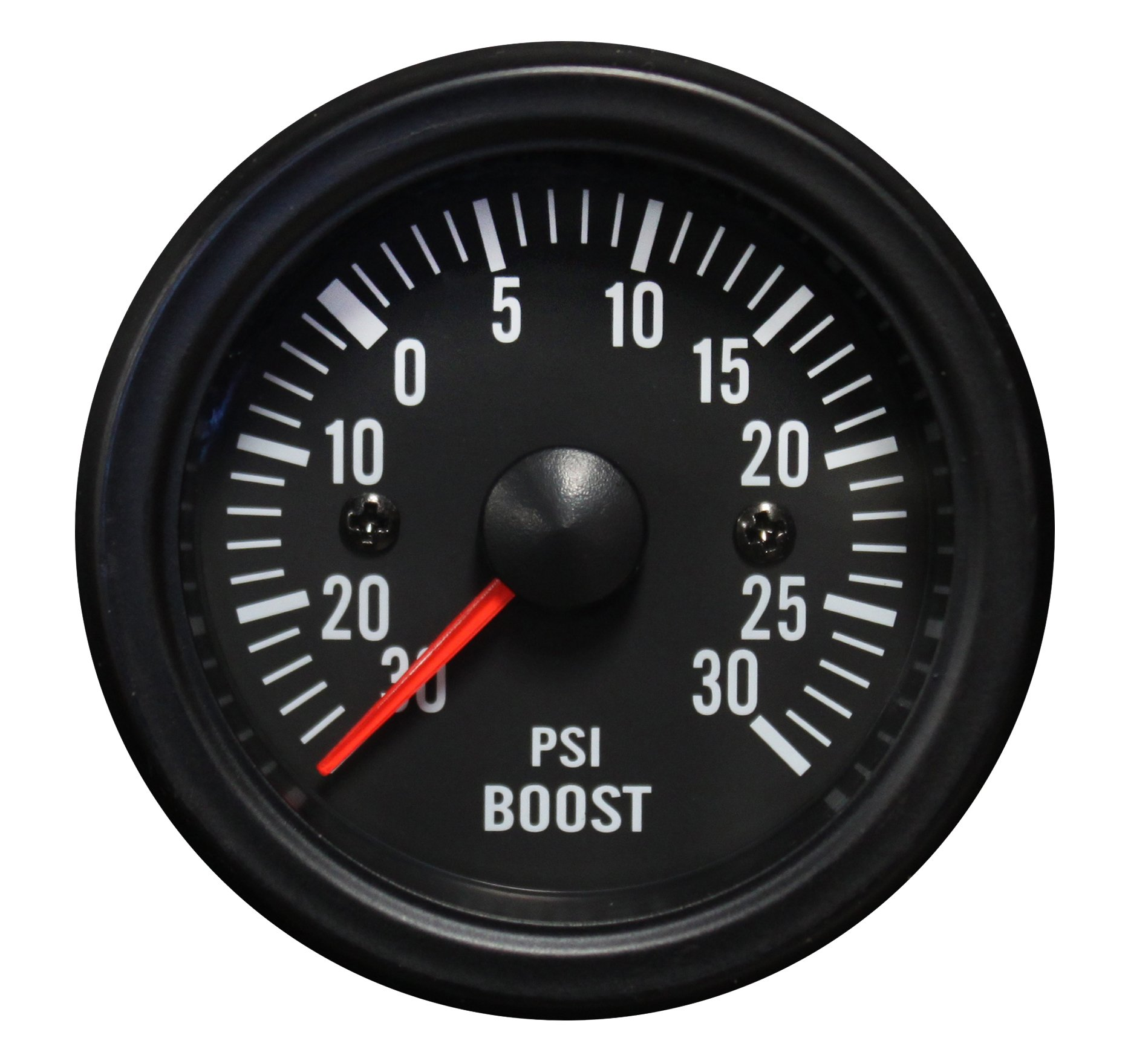 Boost Gauge- Waterproof Electrical White LED Performance Series 52mm (2 1/16) by Prosport Gauges