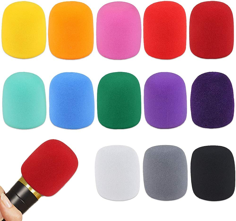 13 Pack Thick Handheld Stage Microphone Windscreen Foam Cover Karaoke Dj (13 Color)