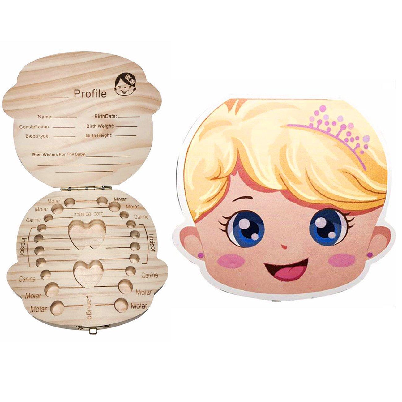 Wooden Kids Baby Tooth Box Organizer Milk Teeth Wood Storage Box COCODE New