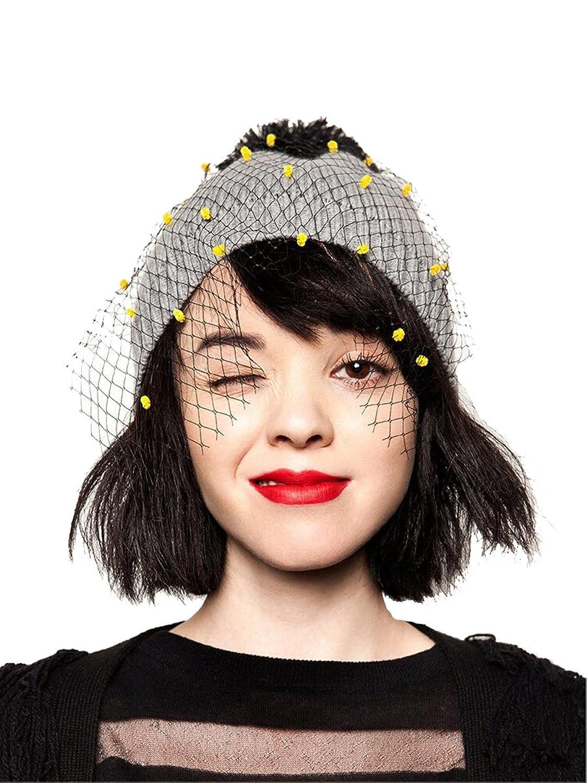 Retro Winter Net Yarn Hat for Women Beanie Solid Knitted Warm Casual Cap Bonnet Gorro Invierno Mesh Hat Bulb