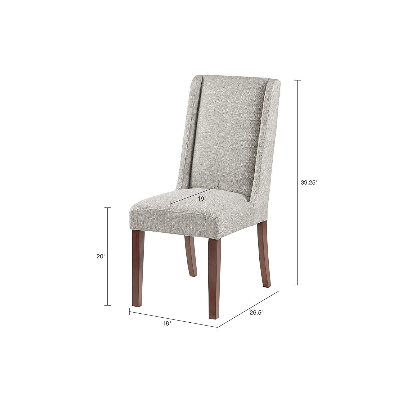 Amazoncom Brody Wing Dining Chair Set Of 2 Creamgrey See Below