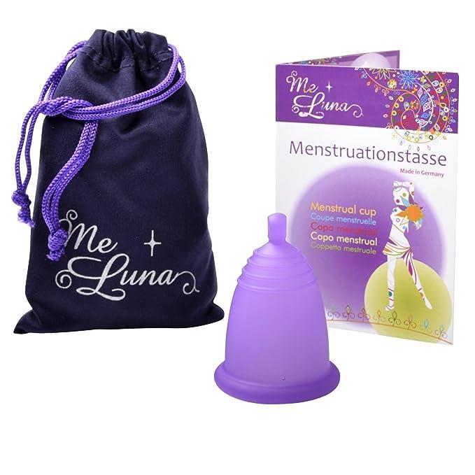 MeLuna Classic Copa Menstrual con Anillo, Color Violeta, Talla M - 1 Unidad