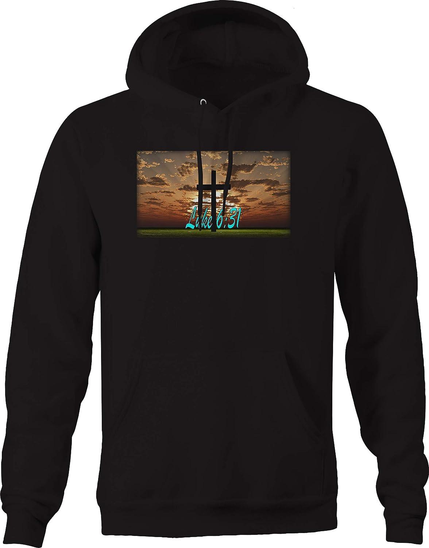 Luke 6:31 Cross Jesus Holy Kingdom Bible Sweatshirt