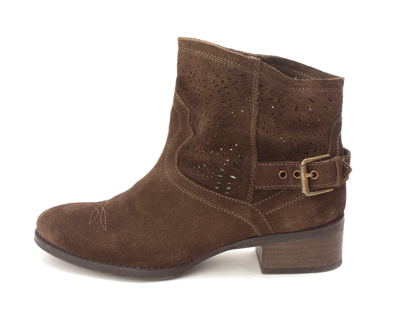 Naughty Monkey Womens Zoey Closed Toe Ankle Cowboy Boots B07D35775W 10 B(M) US|Brown