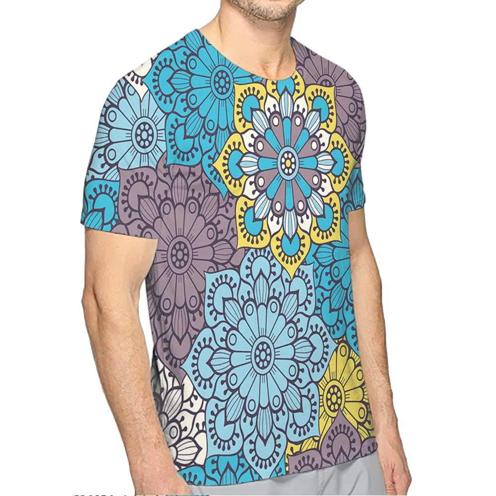 PRUNUS T-Shirt for Men Black Fashion Mens 3D Top Tees