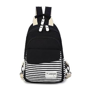 Vintage Striped Canvas Backpacks 55280344cef83