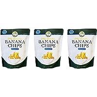Salamat Golden Sliced Thin Banana Chips (3 Pack, Total of 240g)