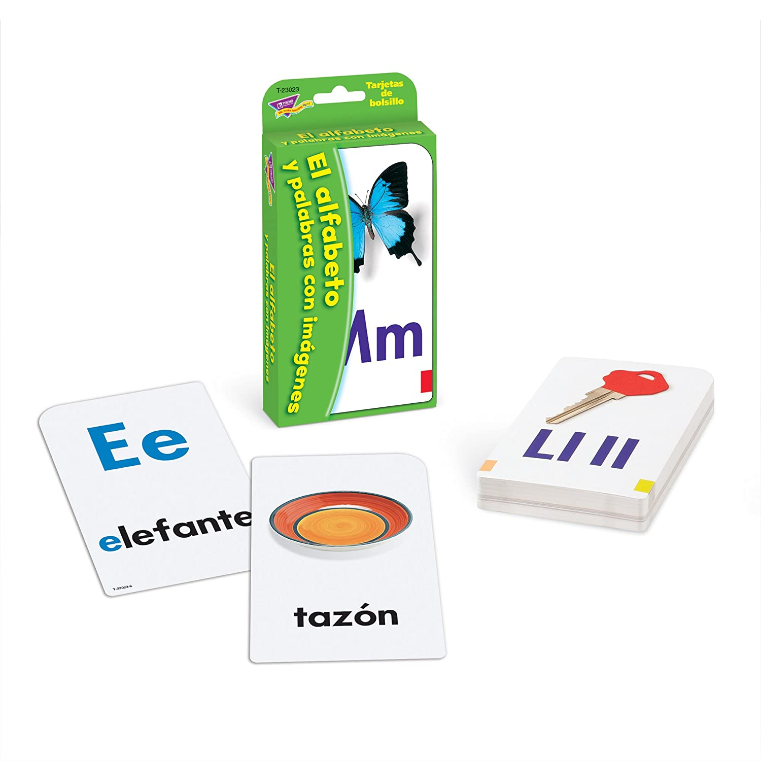 Amazon.com: Spanish Alphabet & Picture Words Pocket Flash Cards: Toys & Games