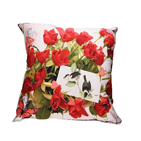 Oferta de Liquidación! Colchón Cubierta de edredón Print Pillow Cases Polyester Sofa Car Cushion Cover Home Decor 🌸 Manadlian (H)
