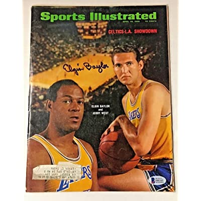 5f6432e1460e Elgin Baylor Signed 1968 Celtics-La Showdown Sports Illustrated Magazine  Beckett Certified