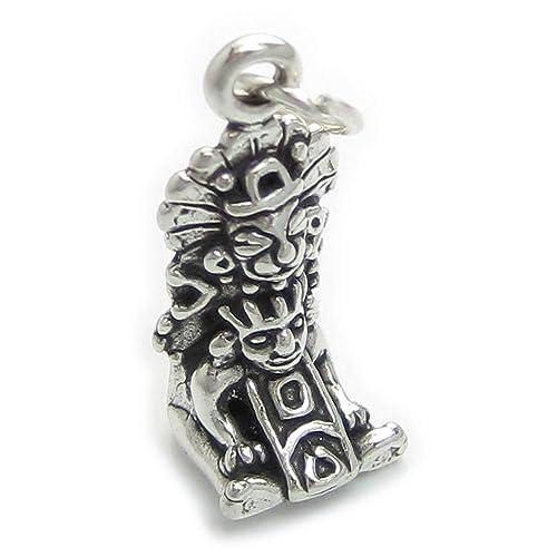 icon Maya de plata de Ley de 925. 1 x Mayans iconos encantos SSLP4239: Amazon.es: Joyería