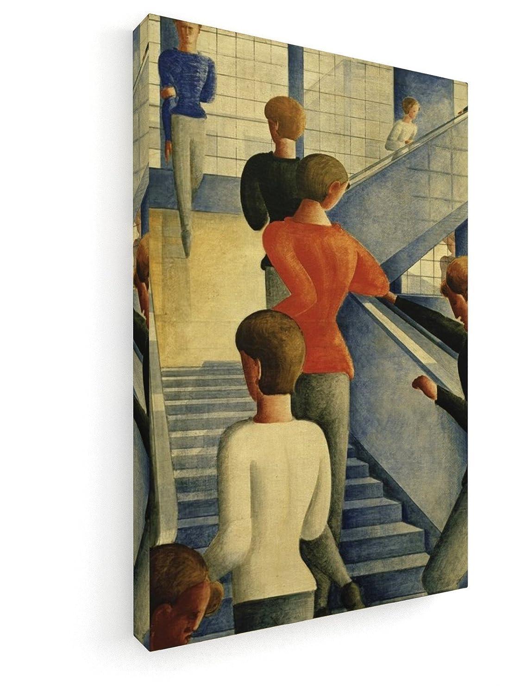 Oskar Schlemmer - Bauhaustreppe - 1932-60x90 cm - Premium Leinwandbild auf Keilrahmen - Wand-Bild - Kunst, Gemälde, Foto, Bild auf Leinwand - Alte Meister Museum