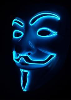 SOUTHSKY Nueva V Vendetta Mascara con la Moda Brillante, luz Azul para el Partido,