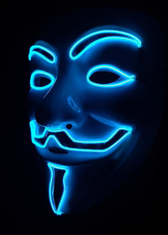 SOUTHSKY Vendetta - Maske mit Neuen v - Mode Scheint, Blaues Licht für Partei Blaues Licht für Partei