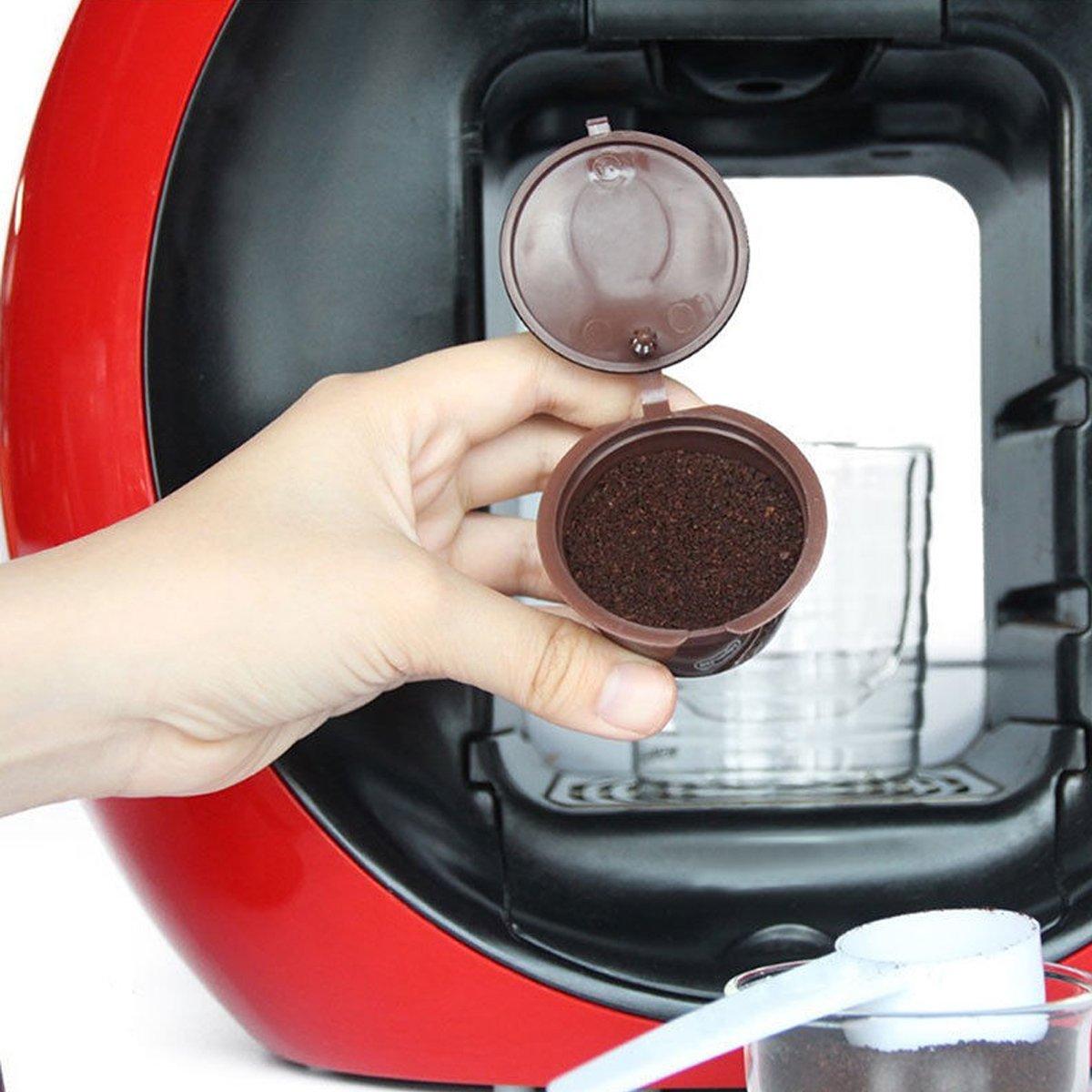 Bearony Taza Reutilizable de la cápsula del café, 8pcs fijó Las cápsulas para el Filtro Reutilizable de la Taza de café de los cerveceros de Dolce Gusto: ...