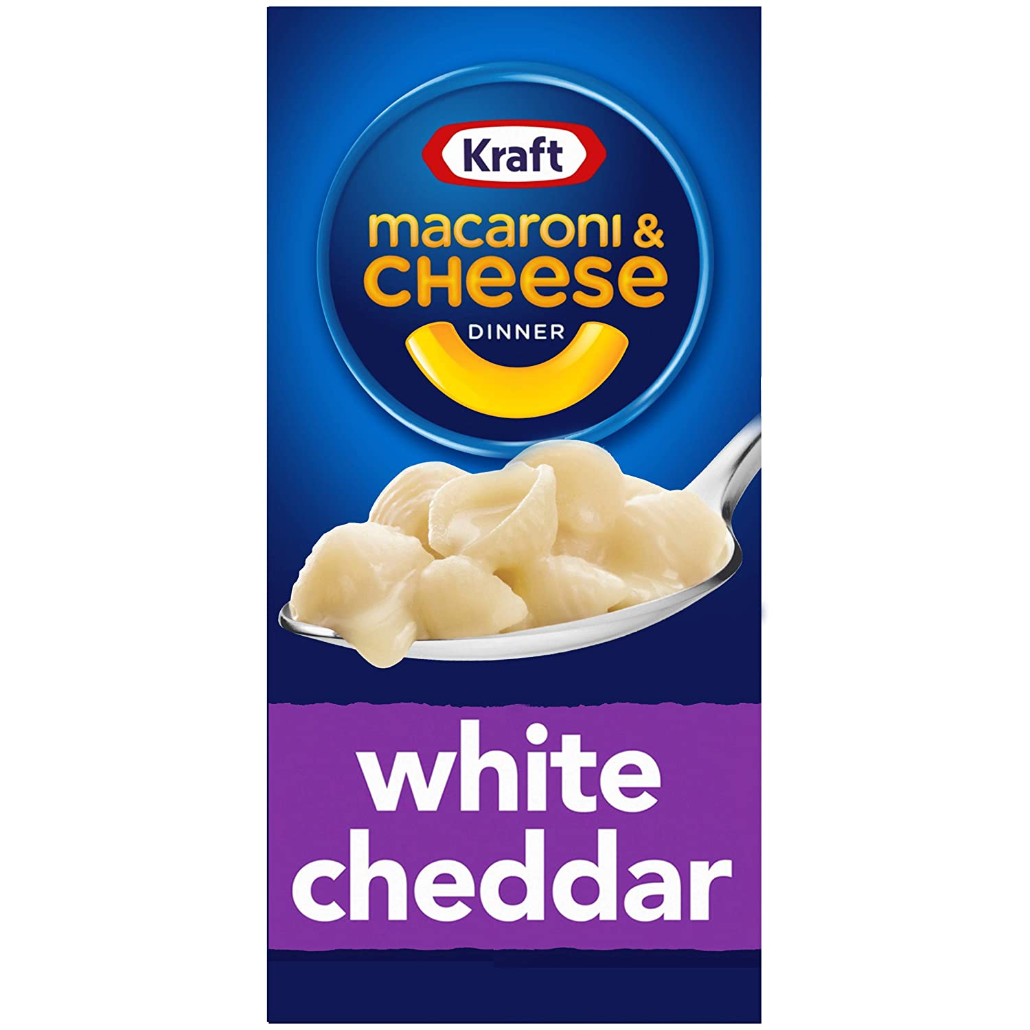 Kraft White Cheddar Macaroni and Cheese Meal (7.3 oz Boxes, Pack of 8)