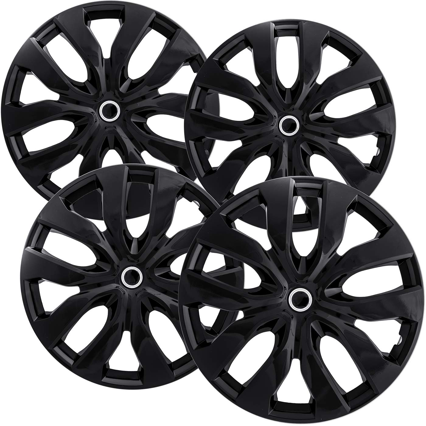 amazon oxgord 15 inch hubcaps best for nissan rogue set of 4 Auto Sound Systems set of 4 wheel covers 15in hub caps ice black rim cover car accessories for 15 inch wheels snap on hubcap auto tire replacement exterior cap