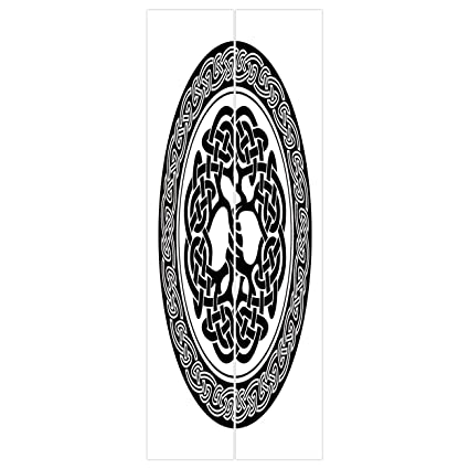3d Door Wall Mural Wallpaper Stickers Celtic DecorNative Tree Of Life Figure