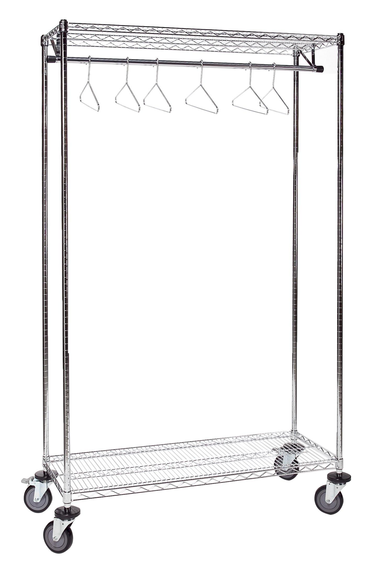 Tarrison GS1836C Chrome Garment Storage Rack, 36'' Length x 74'' Height x 18'' Depth