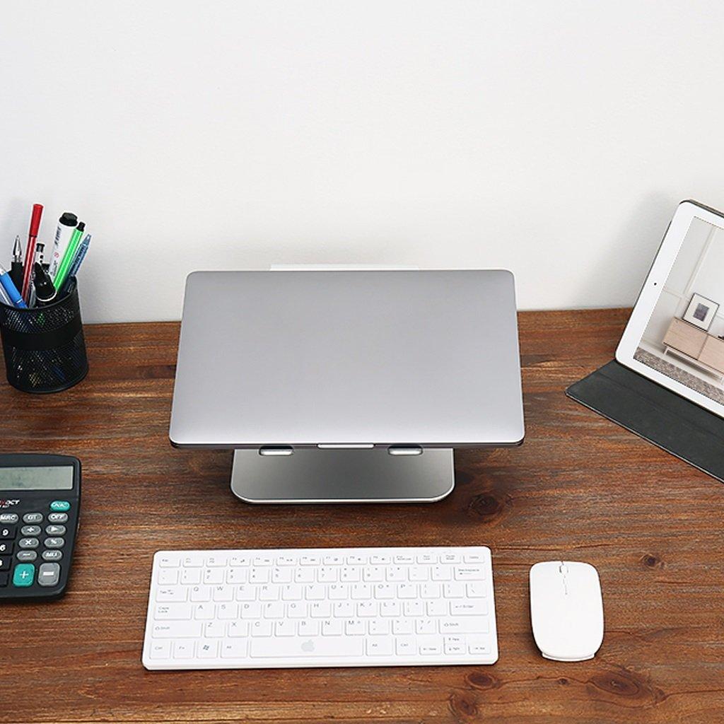 XY Soap dish Desktop Rotary Radiator Computer Base, Aluminum Notebook Desk, Three-Speed Adjustable Rotating Chassis Notebook Desk, 245mm230mm135mm—120mm—105mm by XY Soap dish (Image #4)
