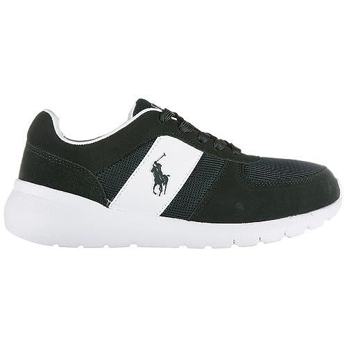 Polo Ralph Lauren zapatos zapatillas de deporte hombres en ante nuevo cordell verde EU 41 A85 XZ4Z2 XY4Z2XW4TN: Amazon.es: Zapatos y complementos