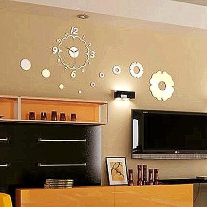 Amazon.com: PINCHU Vintage Home Decor Wall Clock DIY Home Decoration ...