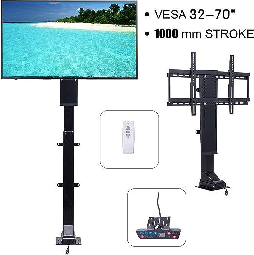 Happybuy - Elevador de TV motorizado (32-70 Pulgadas, 1000 mm, Altura Regulable, con Mando a Distancia RF inalámbrico, para televisores LCD LED y monitores de Plasma: Amazon.es: Juguetes y juegos