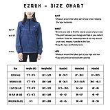 EZRUN Women's Waterproof Hooded Rain Jacket