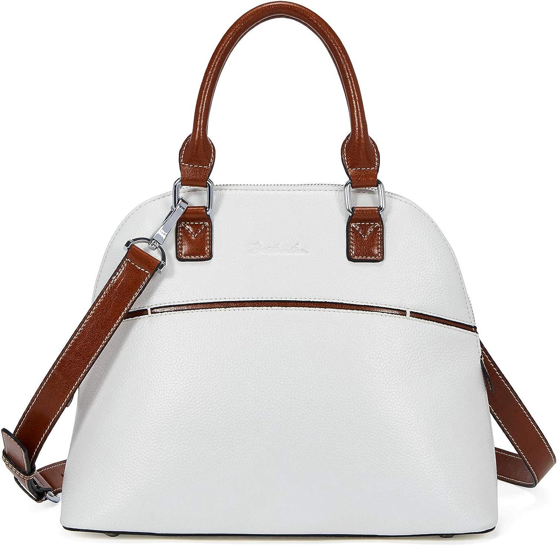 BOSTANTEN Leather Satchel Handbag Designer Crossbody Purses for Women Top-handle Shoulder Bag
