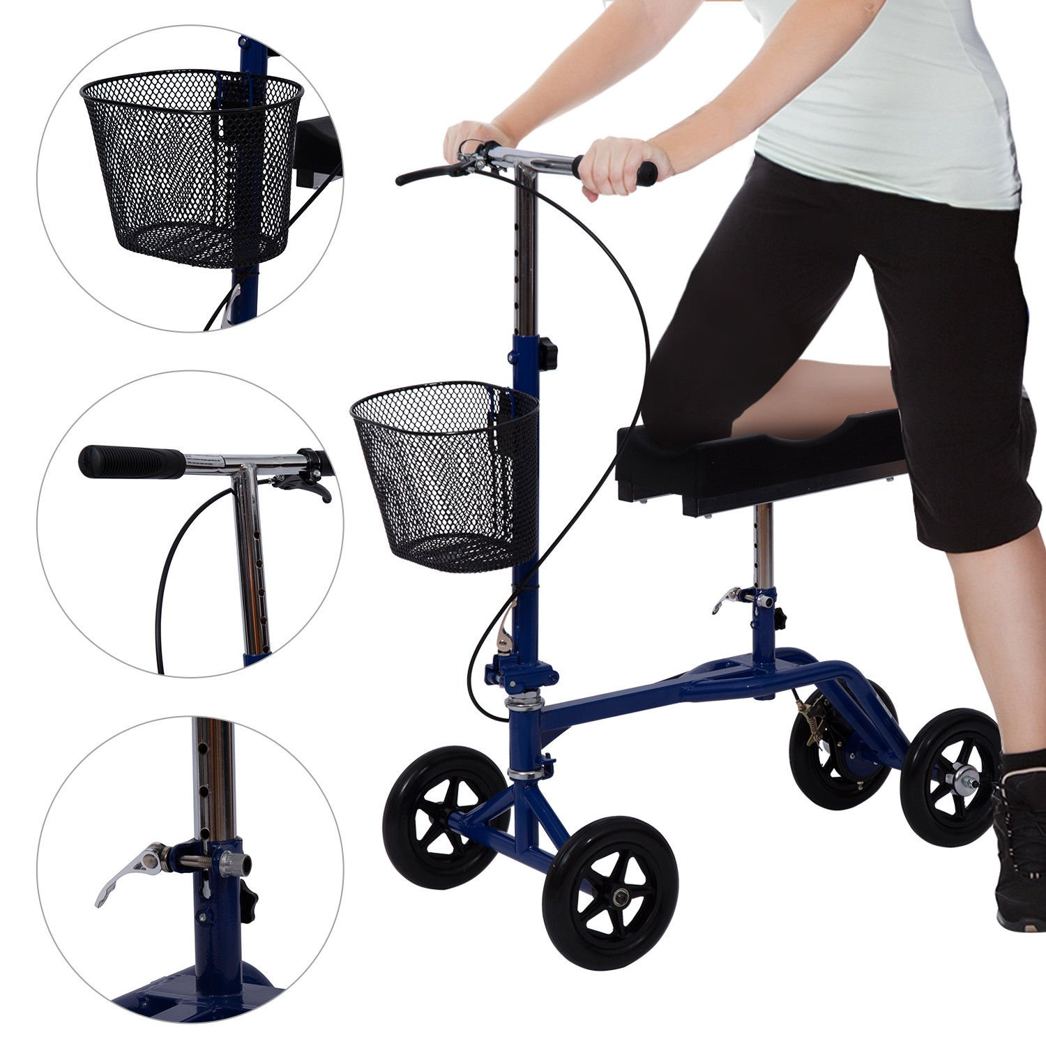Amazon.com: Homcom – orientable – Andador de rodilla Scooter ...