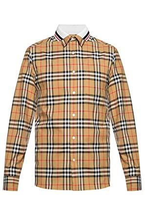 6843c8c855 BURBERRY Men's Vintage Check Edward Double Collar Cotton Long Sleeve ...