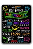 Chalkboard Style First Day of School Photo Prop Tin Sign - Reusable Easy Clean Back to School - Customizable with LIQUID CHALK MARKERS