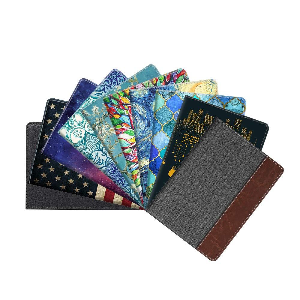 Fintie Passport Holder Travel Wallet RFID Blocking PU Leather Card Case Cover, Black by Fintie (Image #3)